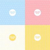 istock Set of Polka dot pastel colour pattern design 1250467490