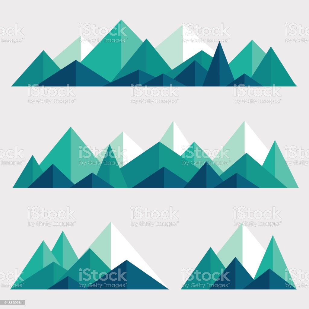 set of polygonal mountain ridges stock vector art more images of abstract 643369534 istock. Black Bedroom Furniture Sets. Home Design Ideas
