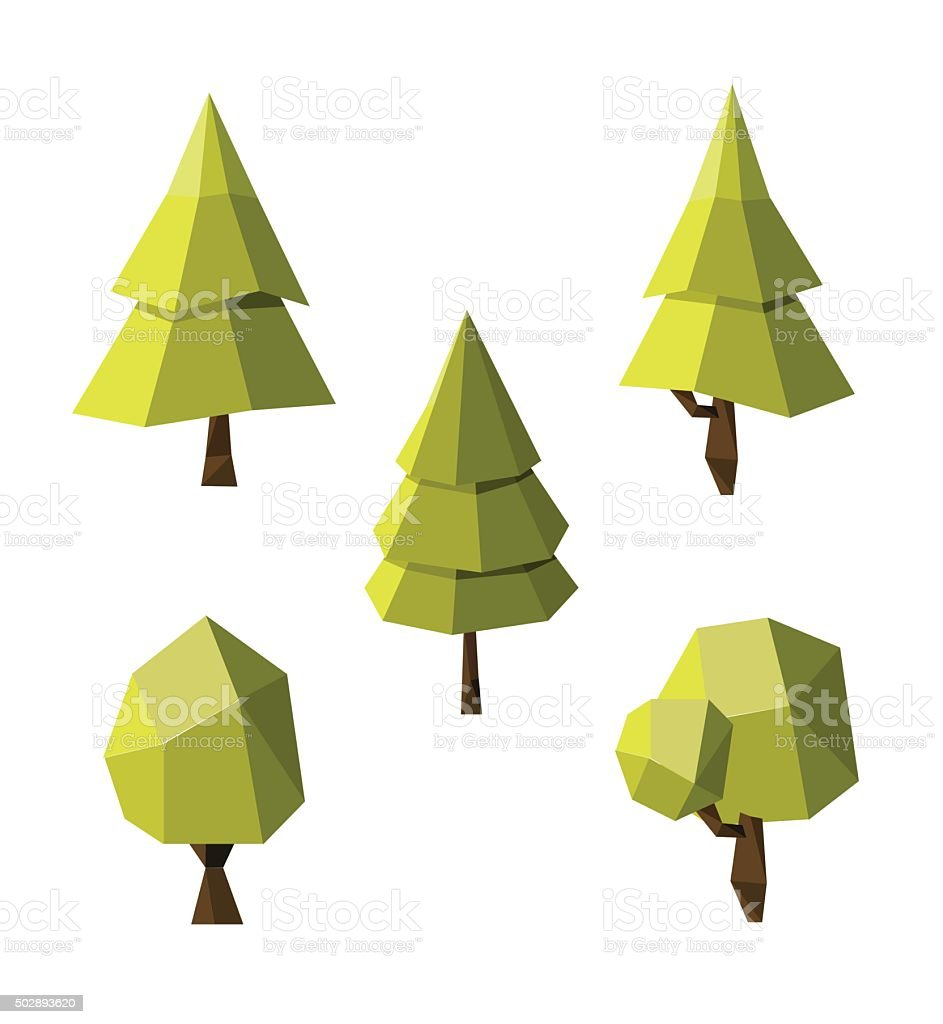 Forest Formal Garden Oak Tree Origami Plant