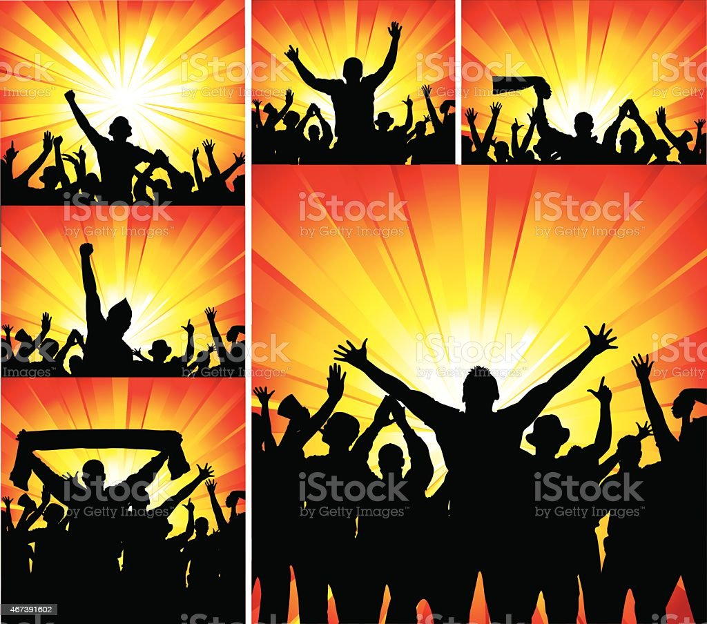 Set of posters for sports vector art illustration