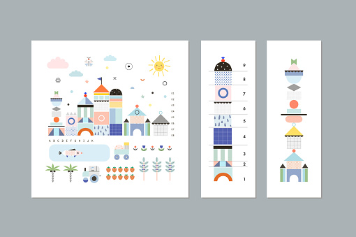 Set of posters or cards for kids.