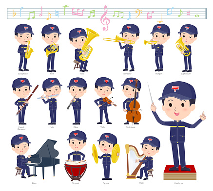A set of postman on classical music performance