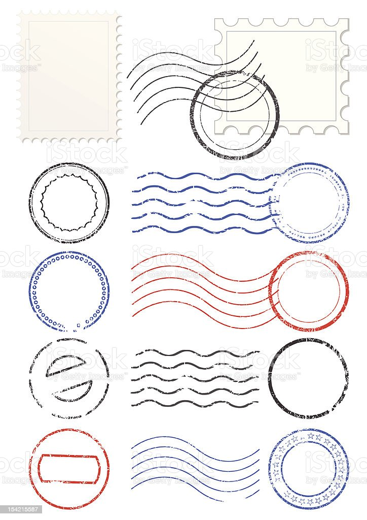 royalty free postmark clip art  vector images  u0026 illustrations