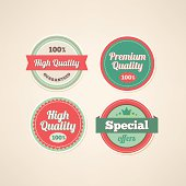 Set of Premium and High Quality labels