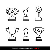 Set of premium award icons. eps10 vector illustration