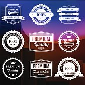 Set of Premium Quality Badges - VECTOR