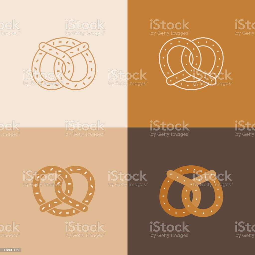Satz von Brezel-Symbol – Vektorgrafik