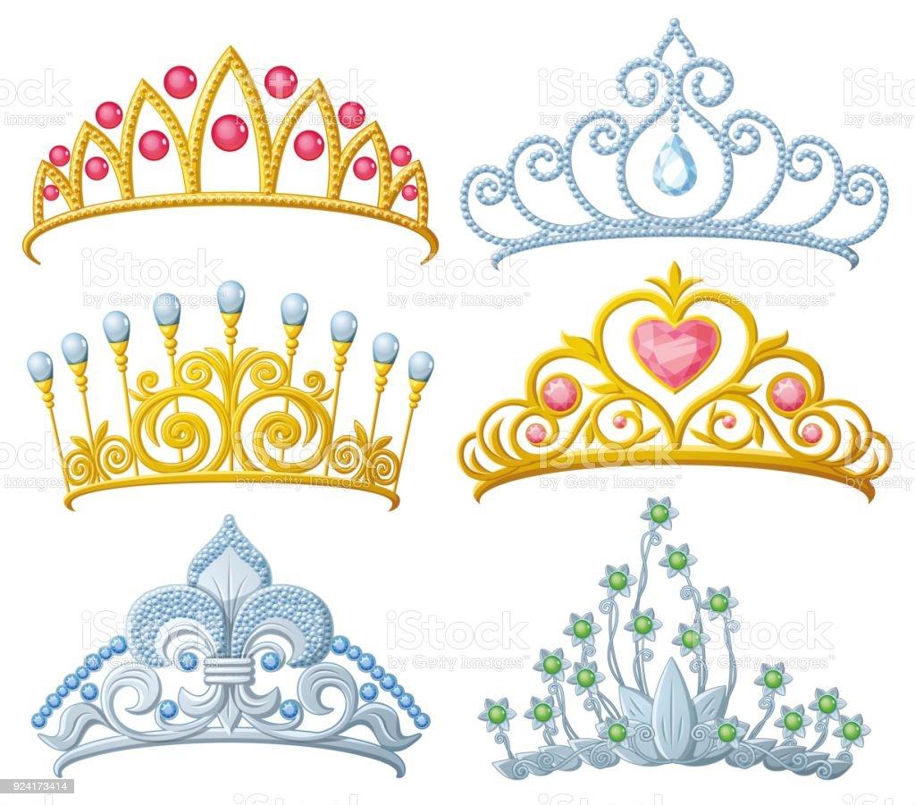 Gold Princess Crowns Set of 6 crowns