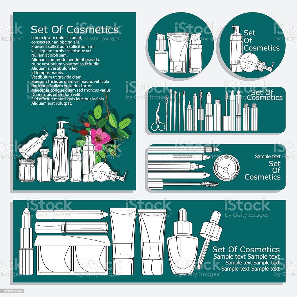 Set Of Printed Materials For Beauty Salon Stock Vektor Art und mehr ...
