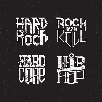 set of prints on a T-shirt on a theme music