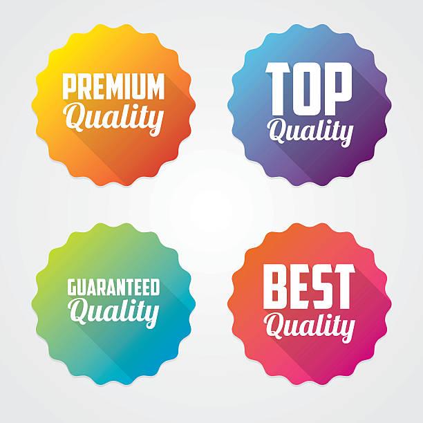 zestaw jakości wektor etykiety - pieczęć znaczek stock illustrations
