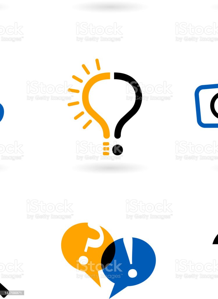 set of question mark icons royalty-free stock vector art