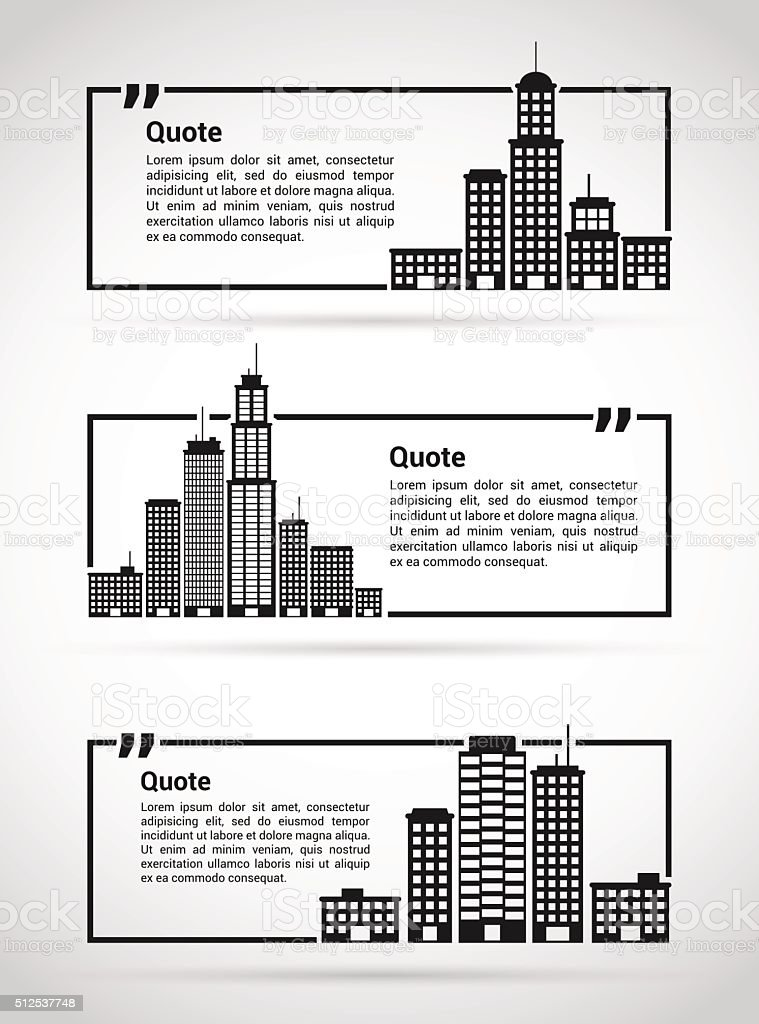 set of quotes templates stock illustration image now