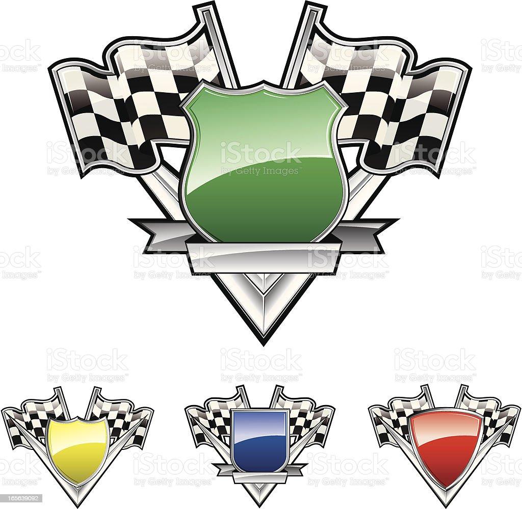 Set of racing emblems vector art illustration