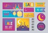 Set of Ramadan Kareem sale design
