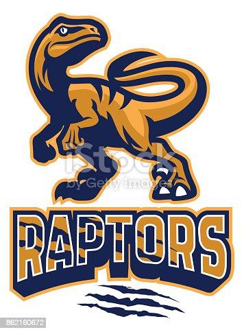 vector of Set of Raptor mascot
