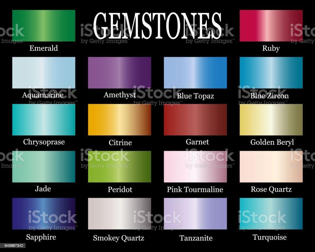 Conjunto de pendientes de gemas realista. - ilustración de arte vectorial