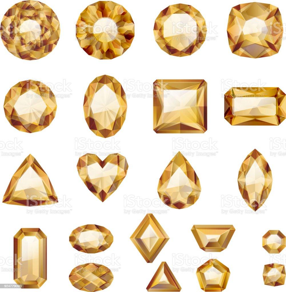 d7f3d6dc74b3 Conjunto de joyas de Oro realista ilustración de conjunto de joyas de oro  realista y más