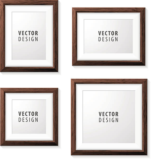 Royalty Free Wood Picture Frame Clip Art, Vector Images ...