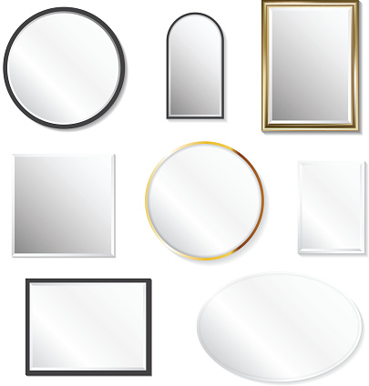 Set of realistic mirrors