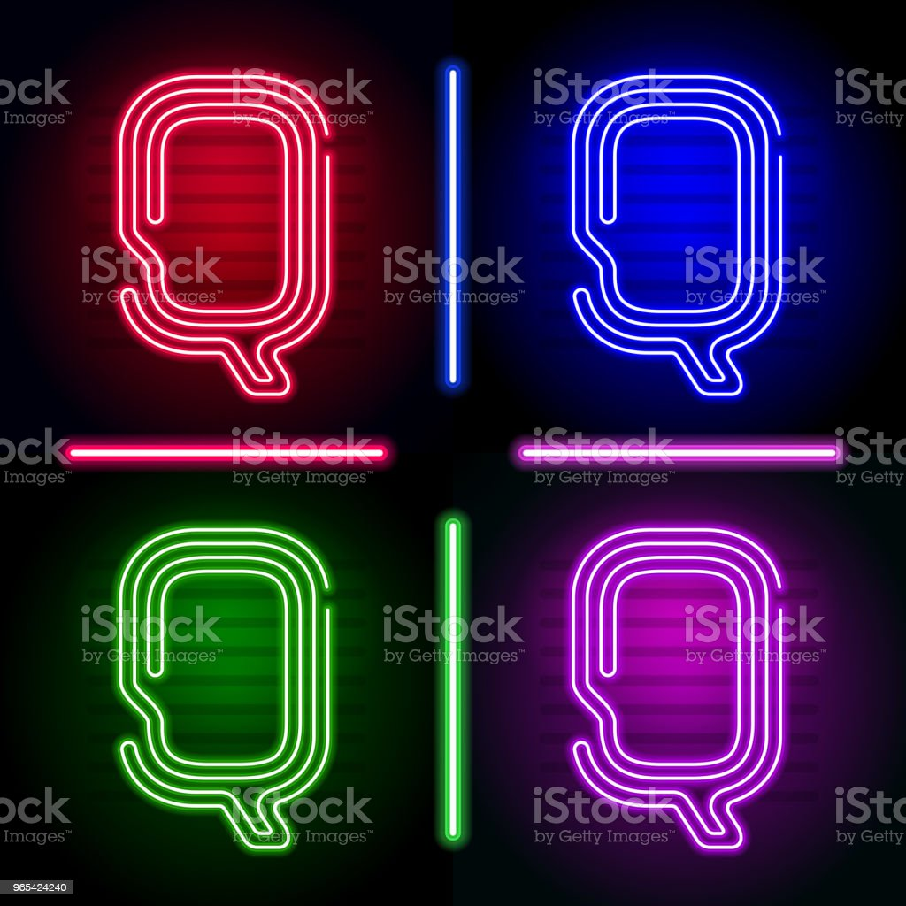Set of realistic neon letters with different neon color glow on dark background. Vector neon typeface for your unique design set of realistic neon letters with different neon color glow on dark background vector neon typeface for your unique design - stockowe grafiki wektorowe i więcej obrazów abstrakcja royalty-free