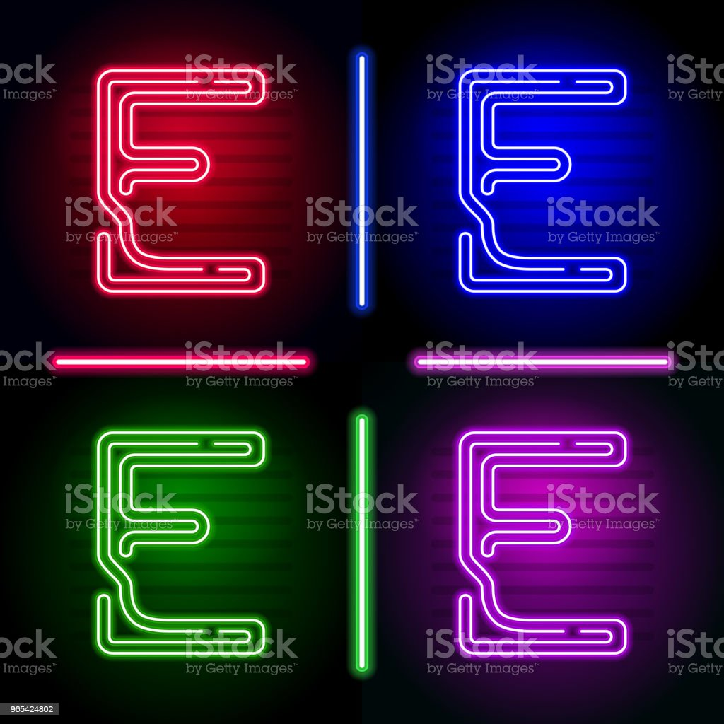 Set of realistic neon letters with different neon color glow on dark background. Vector neon typeface for your unique design royalty-free set of realistic neon letters with different neon color glow on dark background vector neon typeface for your unique design stock vector art & more images of abstract