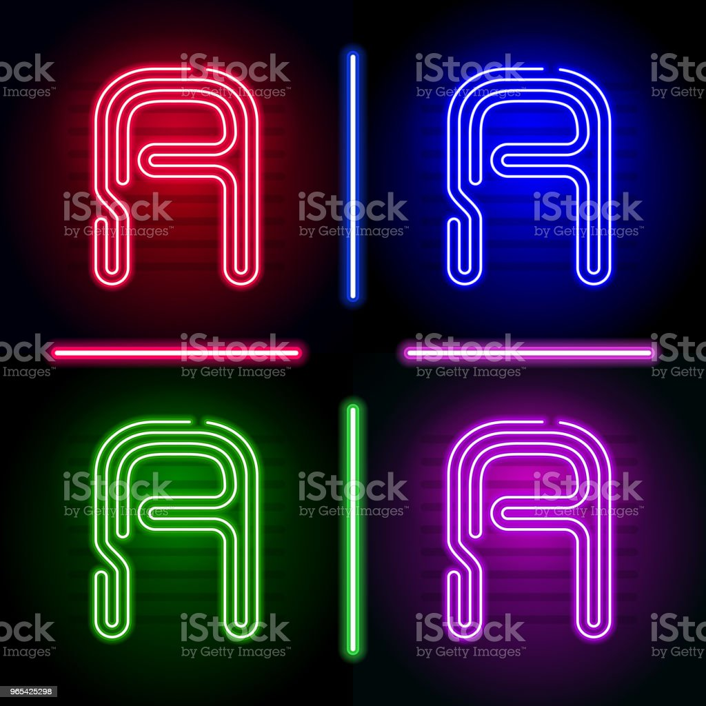 Set of realistic neon letters with different neon color glow on dark background. Vector neon typeface for your unique design royalty-free set of realistic neon letters with different neon color glow on dark background vector neon typeface for your unique design stock illustration - download image now