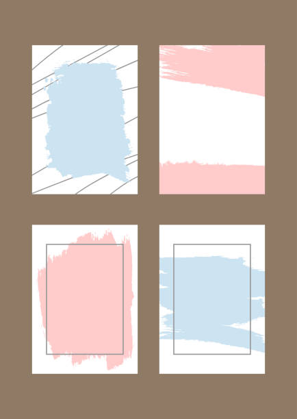 stockillustraties, clipart, cartoons en iconen met set rechthoekig verticale achtergronden met penseelstreken en frames. grunge, schets, splash, aquarel. - baby dirty