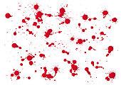 set of red blood for halloween decoration, vector illustration