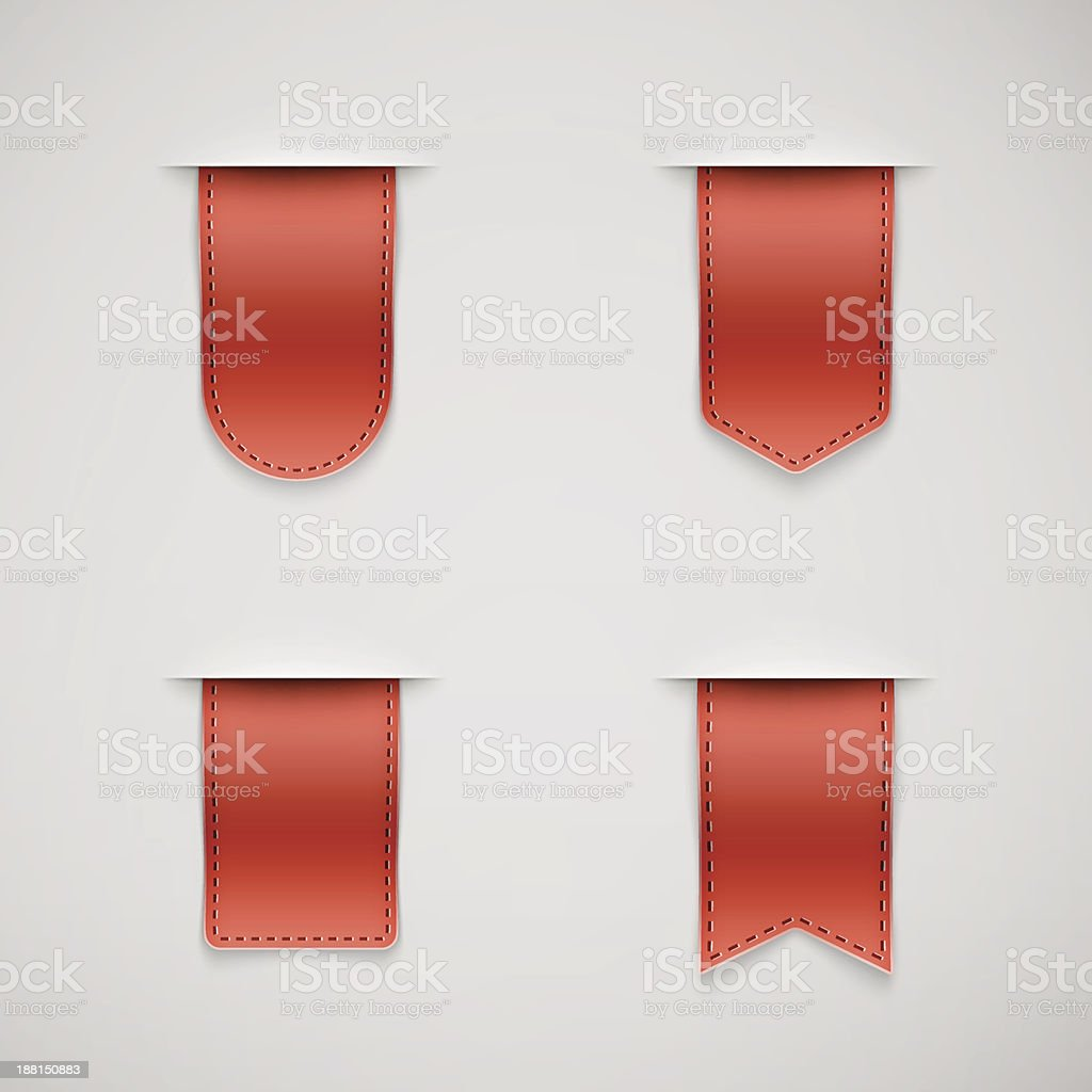 set of red ribbons different shapes royalty-free set of red ribbons different shapes stock vector art & more images of blank