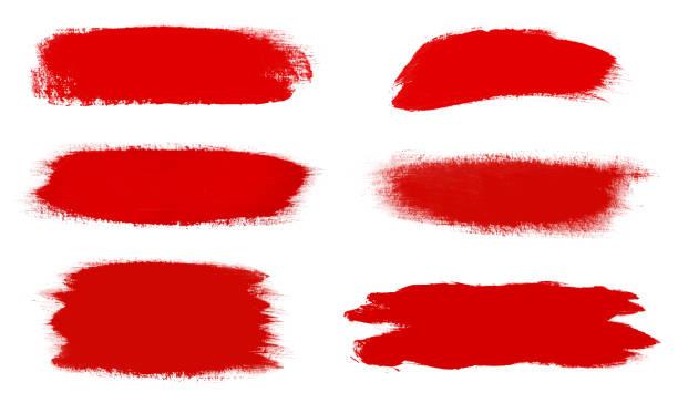 ilustrações, clipart, desenhos animados e ícones de jogo das escovas vermelhas do curso isoladas no branco - texturas desgastadas