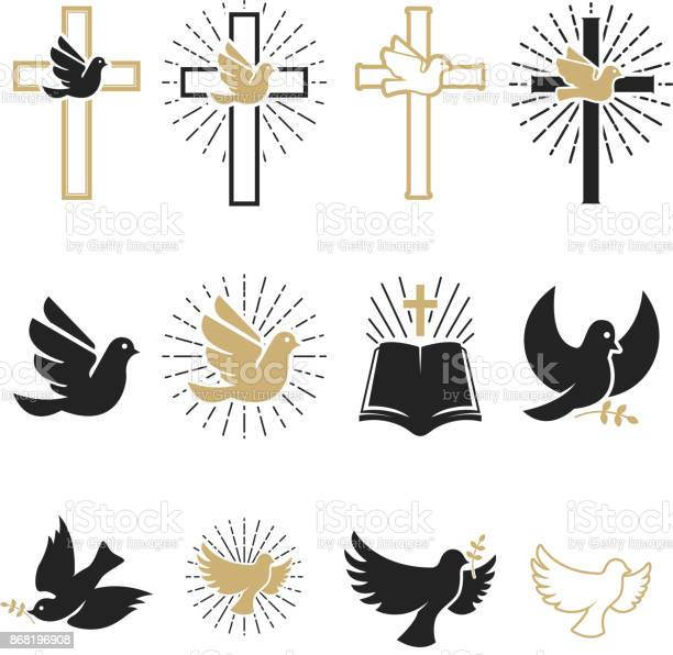 Set of religious signs cross with dove holy spirit bible vector id868196908?b=1&k=6&m=868196908&s=612x612&h=nrrhkqmn26on1vr5qdcywdskc6qvl1eklzto6ixdf1a=