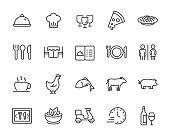 istock set of restaurant icons, food, drinks, menu, chef 1224079104