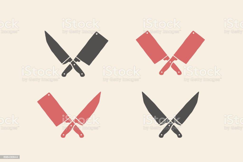 Ensemble d'icônes de couteaux restaurant - Illustration vectorielle