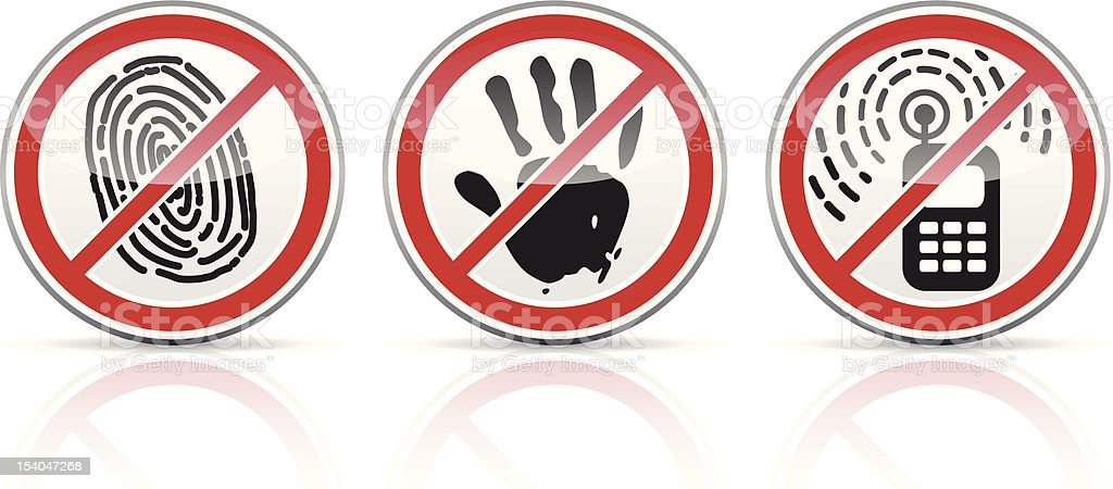 set of restrictive signs icons royalty-free stock vector art