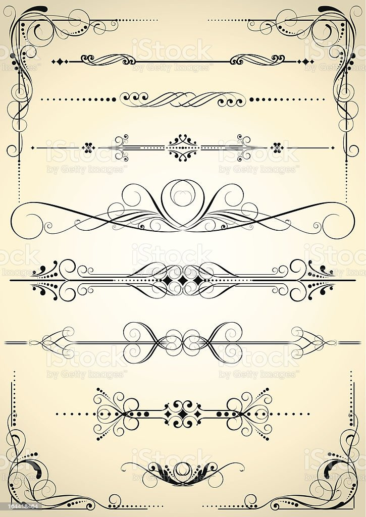 Set of retro decorative elements royalty-free set of retro decorative elements stock vector art & more images of abstract
