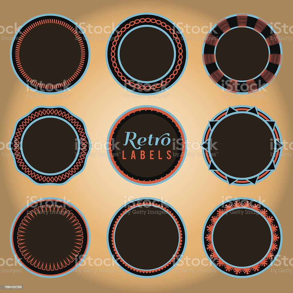 Set of Retro Labels and Badges royalty-free stock vector art