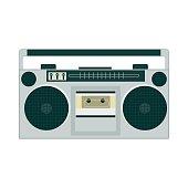 Set of retro music gadgets from 21-st century