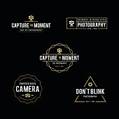 an amazing illustration Set of retro styled photography badges and labels