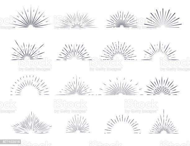 Set of retro sunburst rays design elements vector id827453516?b=1&k=6&m=827453516&s=612x612&h=s 7oc0gkmn6uamrvzb84ed1ija2iayrmrl2i4zrzo34=