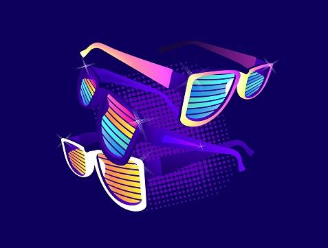 Set of retro sunglasses