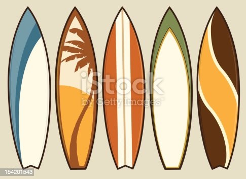 istock Set of Retro Surfboards 154201543
