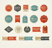 Set of retro vintage badges and labels design.