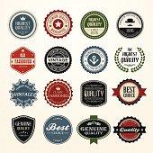 Set of retro vintage badges and labels vector illustration