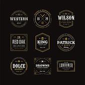 istock Set of Retro Vintage Hipster Logo Sign Emblem Design 1146415832