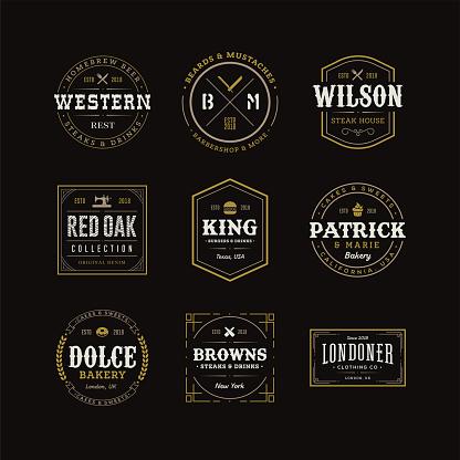 Set of Retro Vintage Hipster Logo Sign Emblem Design