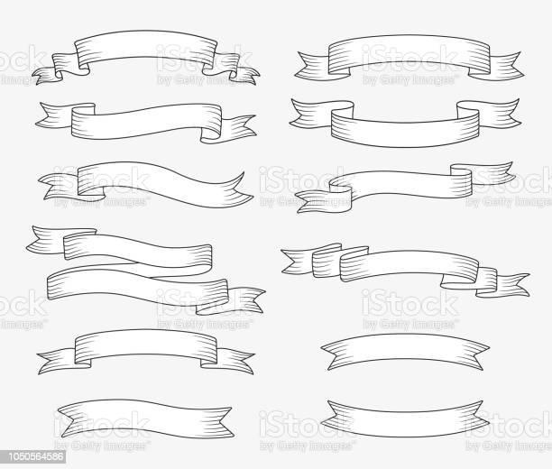 Set of ribbon banners hand drawn design element vector illustration vector id1050564586?b=1&k=6&m=1050564586&s=612x612&h=72fuqkou121onpehwi7dvndqhn8ezt0z2lhmqsyxplw=