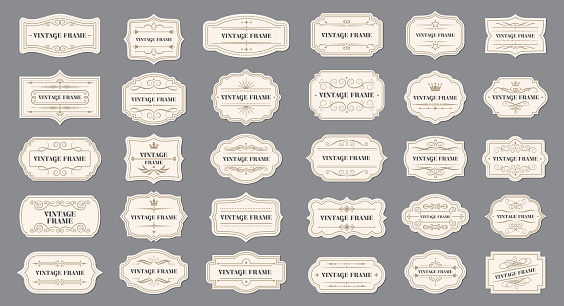 Set of Ribbons and Badges stock illustration