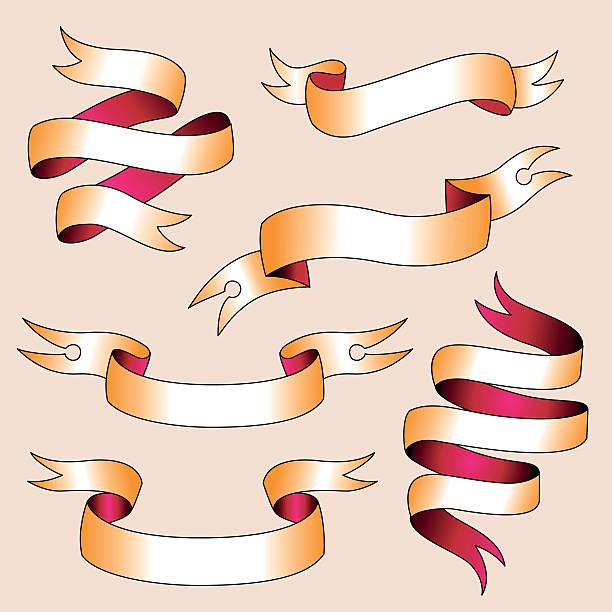 ilustrações, clipart, desenhos animados e ícones de conjunto de fitas - tatuagens de faixas