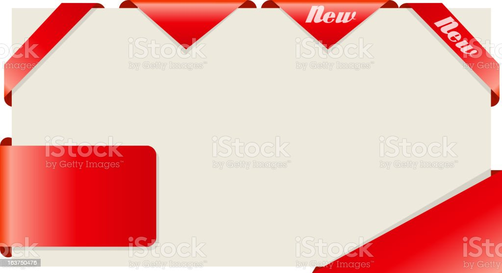 Set of ribbons. Vector illustration. royalty-free stock vector art